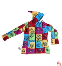 Kids brush painted patch Jacket
