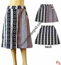 Jacquard-Gheri cotton heavy skirt