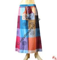 Block print multicolor skirt