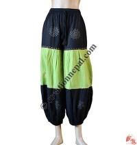Cotton 3-part joined block print trouser