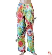 Cotton tie-dye trouser