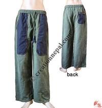 Different color long pocket trouser