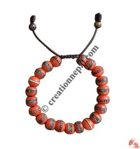 Decorated Orange beads bangle