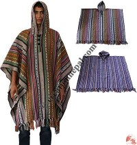 Colorful gheri cotton poncho