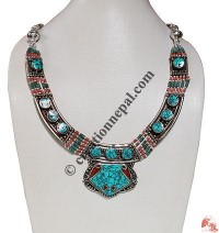 Turquiose-colral Tibetan necklace5