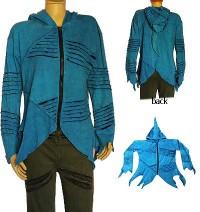 Turquoise rib jacket