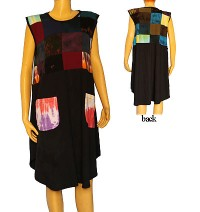 Sleeveless patch work sinkar dress