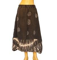 Tiedye bottom cotton skirt