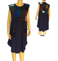 Patch work sinkar sleeveless dress