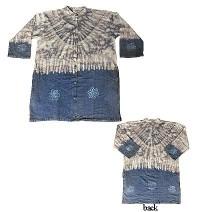 Tiedye cotton long shirt