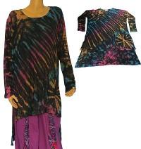 Side spilt tie-dye dress