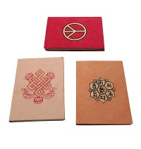 Peace, endless knot notebook