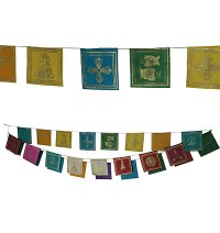 Symbols: paper small prayer flags- 25 leaf