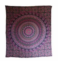 Multi prints mandala Large wall hanging
