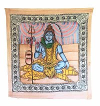 Shiva brushed print Large wall hanging