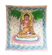 Buddha brushed print Large wall hanging