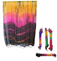 Tie dye silk twisted shawl