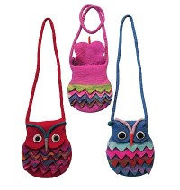 Colorful Owl evening bag