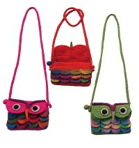 Felt Owl evening bag