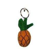 Felt pineapple key ring