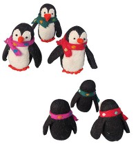 Felt penguins
