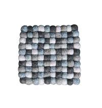 Square shape mixed color felt Plate mat