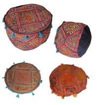 Rajasthan embroidered cotton stool2