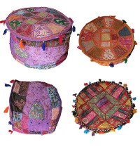 Jari embroidered cotton stool3