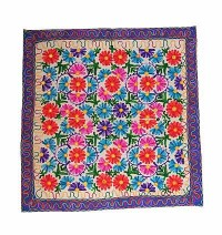 Flower arts square table cover