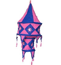 Pink color Small cotton jhumar lamp shade