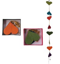 Large hearts Lokta paper decorative garland