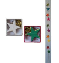 Small stars Lokta paper decorative garland