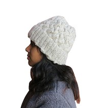 Unique braided knit cap