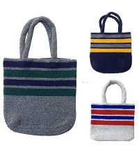 Woolen rugger border Tote bag