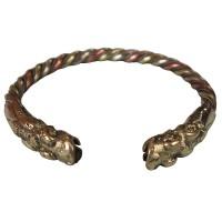 Crocodile head braided bangle