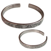 Dragon carved White metal solid bangle