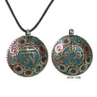 Decorated Tibetan Om pendent