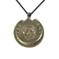 Brass moon pendent