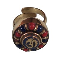 Beads decorated OM circle finger ring