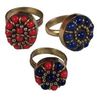 Beads decorated assorted finger ring