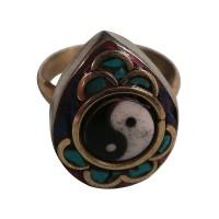 TD Ying-Yang brass Finger ring