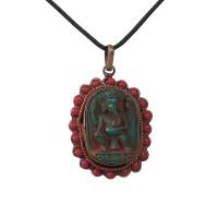 Beads decorated Ganesha icon pendent