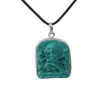 Shakti icon turquoise pendent