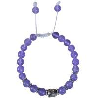 Light purple stone beads bracelet