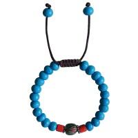 Turquoise color bone beads bracelet