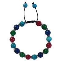 Mixed stone 10mm beads bracelet