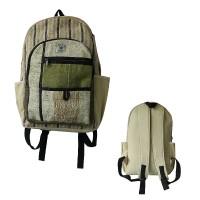 Hemp cotton patch pocket backpack