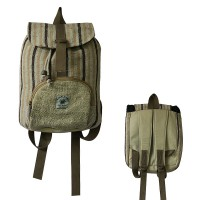 Kids size Hemp-cotton rucksack bag
