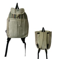 Hemp-cotton mixed medium rucksack bag