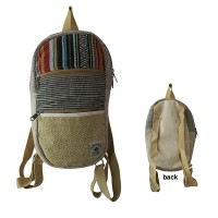 2-zipper pockets hemp bag